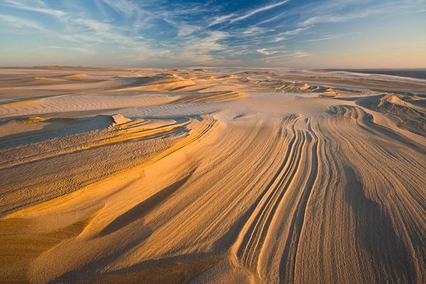 Словинский национальный парк и движущиеся песчаные дюны.