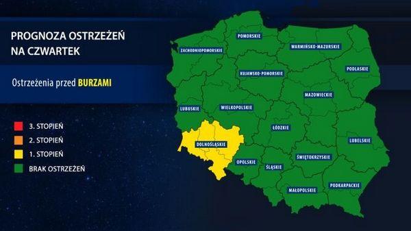 Погода в Польше в ближайшие дни может быть опасной