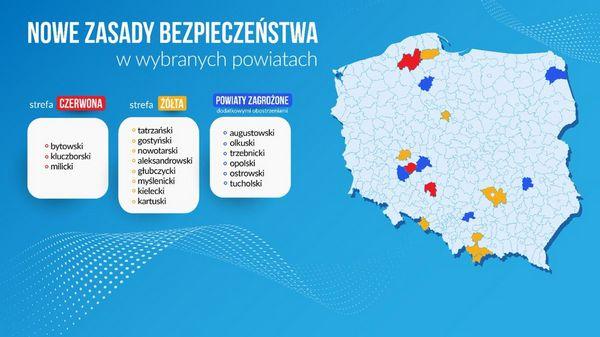 Коронавирус в Польше. Новый список желтых и красных зон