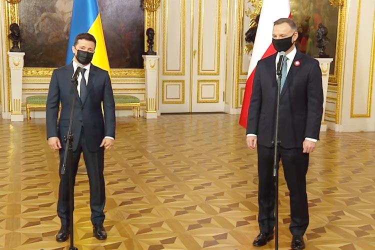 Встреча Зеленского и Дуди в Варшаве: заявления для представителей прессы [ВИДЕО]