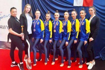 Юниорская сборная Украины по художественной гимнастике получила три бронзы на турнире в Варшаве