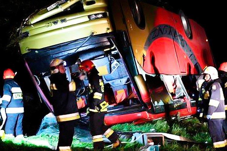 В Польше умерла украинка, пострадавшая в аварии автобуса в начале марта