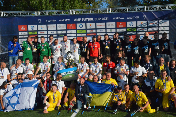 Сборная Украины по футболу среди лиц с инвалидностью заняла на турнире в Варшаве второе место